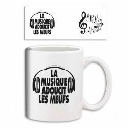 """Mug """"La Musique adoucit les Meufs"""""""