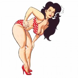 "Tatoo temporaire ""Pin Up"""