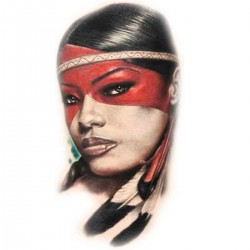 Tatoo temporaire squaw bandeau rouge