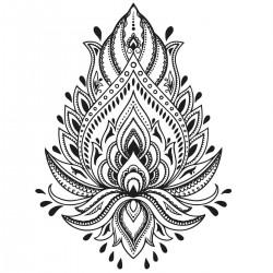 Tatoo temporaire Mandala Fleur de Lotus