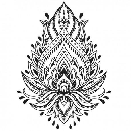 tatoo temporaire mandala fleur de lotus. Black Bedroom Furniture Sets. Home Design Ideas