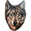 Tatoo temporaire tête de loup réaliste