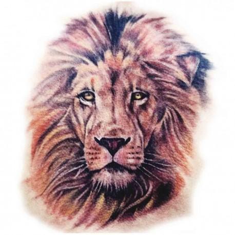 Tatoo temporaire tête de lion couleur