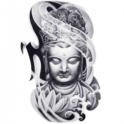 Tatoo temporaire Buddha volutes