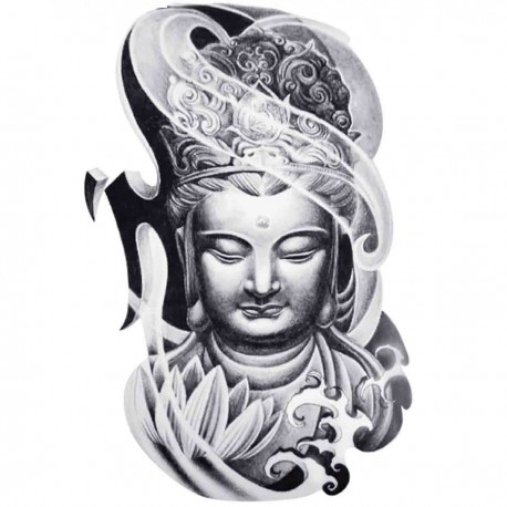 Tatoo temporaire Buddha-tour chinoise