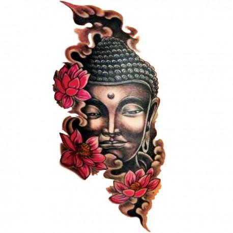 Tatoo temporaire Buddha fleurs de lotus