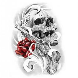 Tatoo temporaire skull gun & roses
