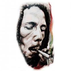 Tatoo temporaire Bob Marley qui bédave