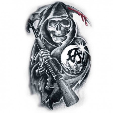 "Tatoo temporaire faucheuse ""Sons of Anarchy"""