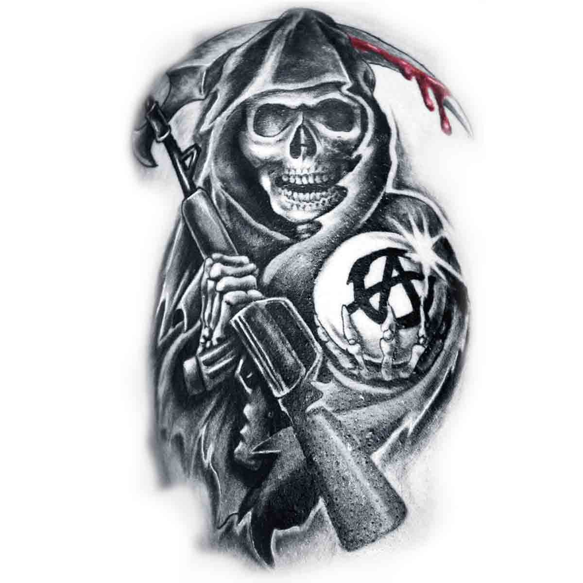 Tatoo Temporaire Faucheuse Sons Of Anarchy