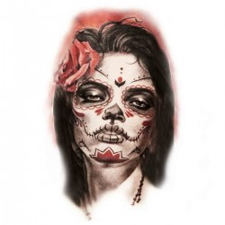 Tatoo Temporaire Santa Muerte rojo