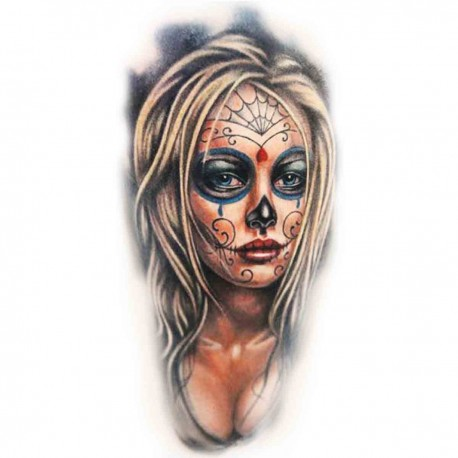 Tatoo Temporaire bombasse blonde mexicaine