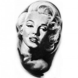 Tatoo Temporaire Marylin Monroe Photo vintage