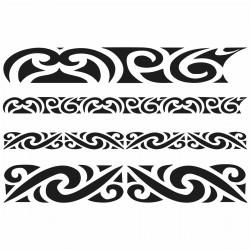 Tatoo temporaire bracelets Maorie x 4