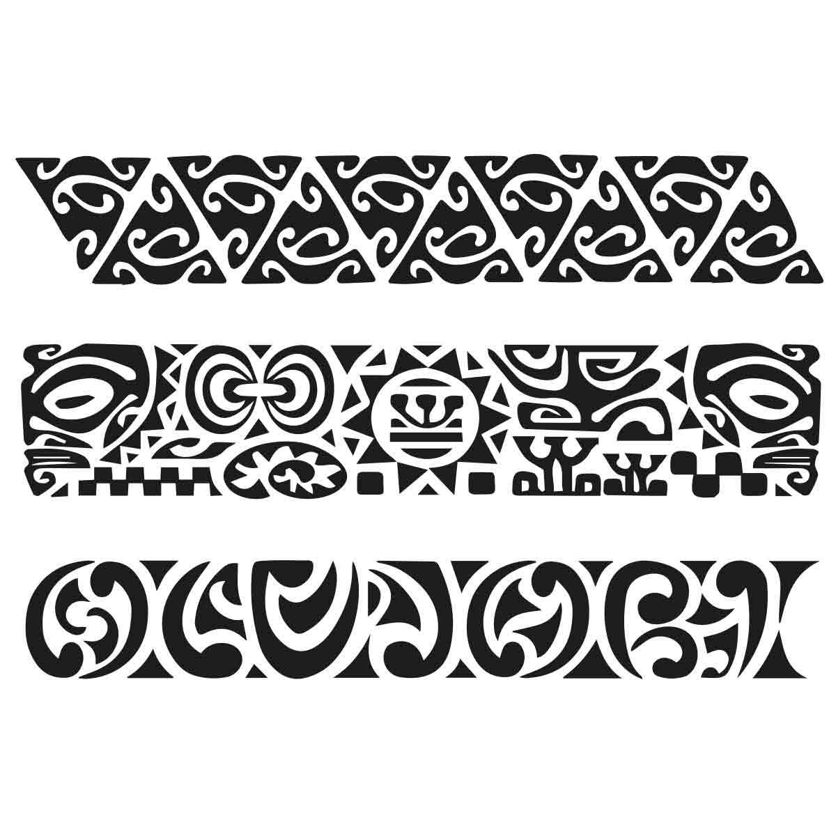 tatoo temporaire bracelets maorie x 3. Black Bedroom Furniture Sets. Home Design Ideas
