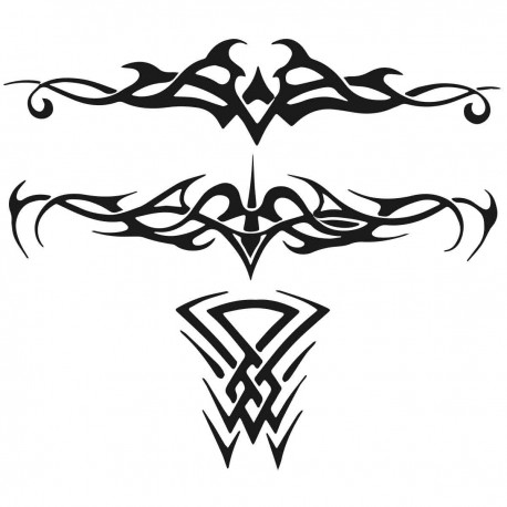 Tatoo temporaire Tribals x 3