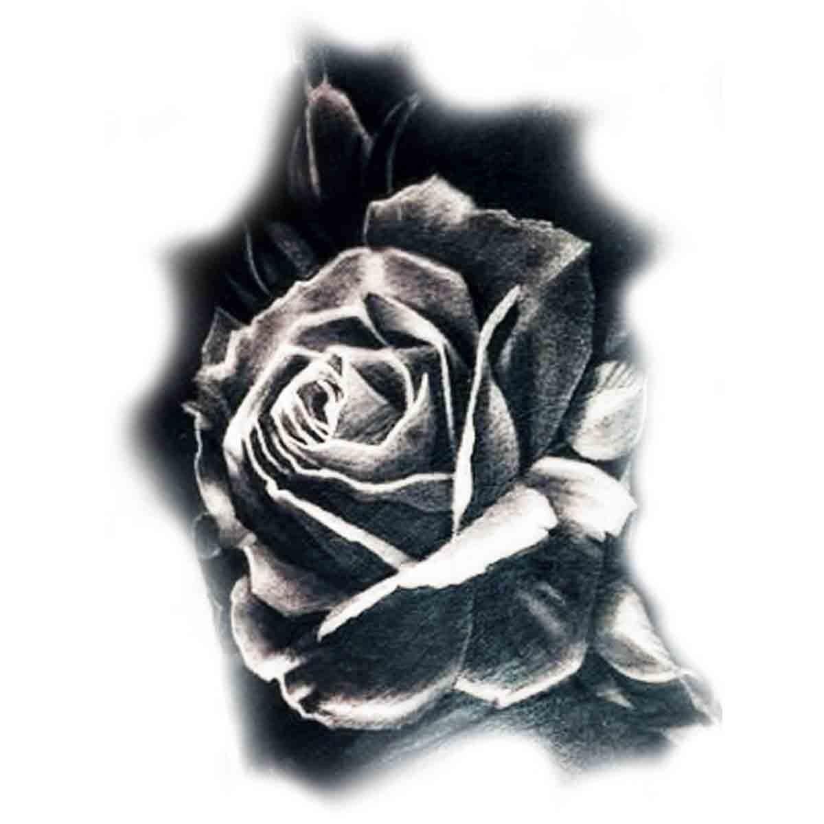 tatoo temporaire rose noire. Black Bedroom Furniture Sets. Home Design Ideas