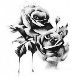 Tattoos temporaires roses noires