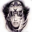 "Tattoo temporaire ""Femme tigre"""