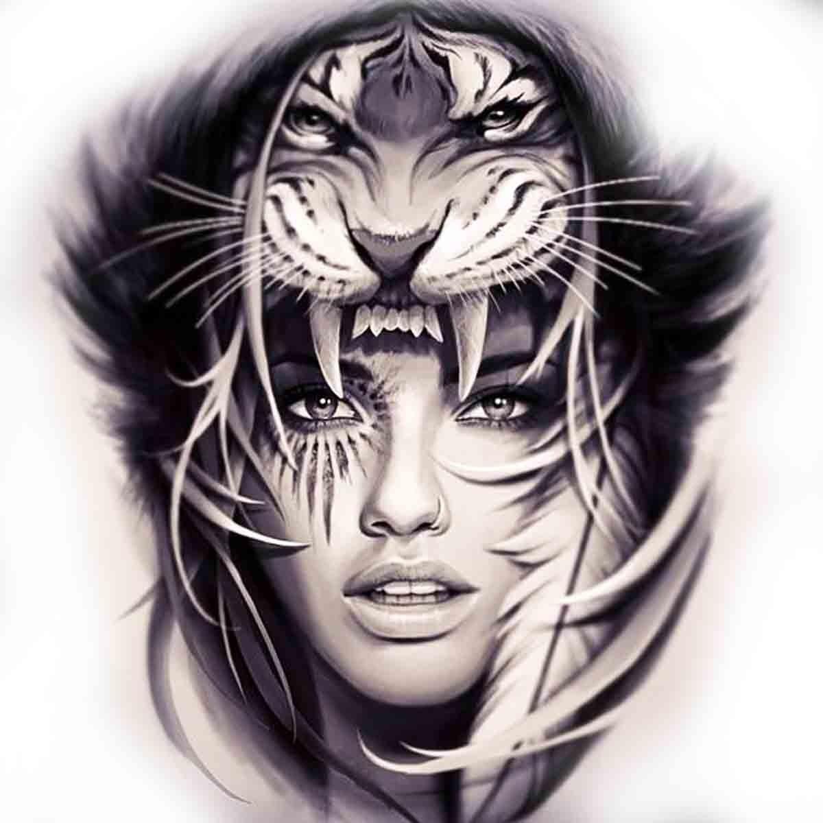 Tattoo Temporaire Femme Tigre