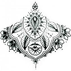 "Tattoo Mandala temporaire ""sous poitrine"" N°4"
