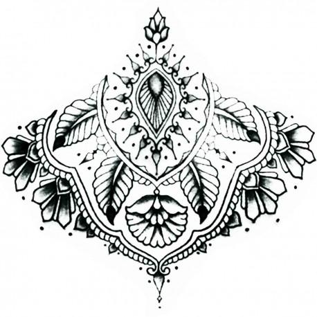 "Tattoo temporaire Mandala ""sous poitrine"" N°4"