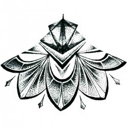 "Tattoo Mandala temporaire ""sous poitrine"" N°5"