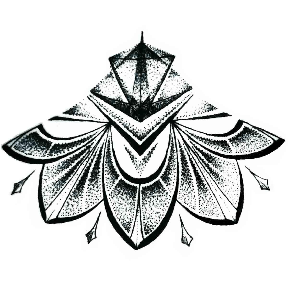 Tattoo Temporaire Mandala Sous Poitrine N 5