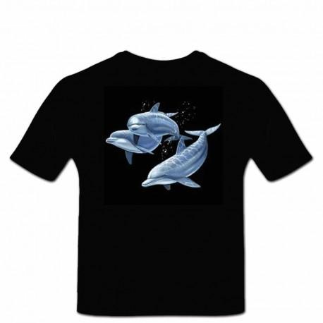 Tshirt dauphins en relief 3D