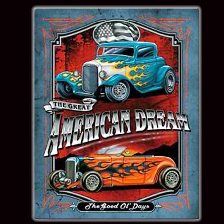 "Plaque Métal Vintage ""American Dream"""