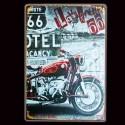 "Plaque Métal Vintage "" I Love Road 66"""