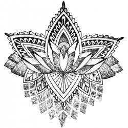 Tattoo temporaire Mandala Lotus Stylisé