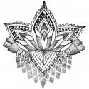 Tattoo temporaire Mandala Lotus Stylisé