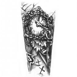 """Tattoo temporaire """"Combien de Temps ? """""""