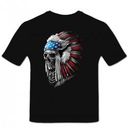 Tshirt Personnalisé Patriotic Chief Skull
