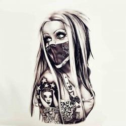 Tattoo temporaire Femme Masquée