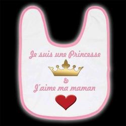 """Bavoir """"Je suis une Princesse"""""""