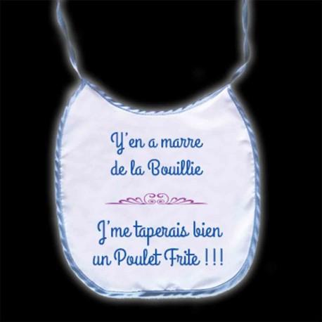 """Bavoir """"Poulet/Frites"""""""