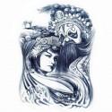 """Tattoo temporaire """"Le roi & la Geisha"""""""