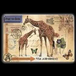 """Plaque Métal Vintage """"Air Orient"""""""