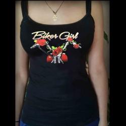 Tee shirt personnalisé Biker Girl