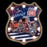 """Plaque Métal Vintage lumineuse LED """"Route 66 moto"""""""
