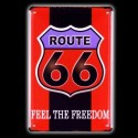 "Plaque Métal Vintage Route 66 ""Feel the Freedom"""
