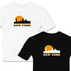 Tee shirt crépuscule sur New York