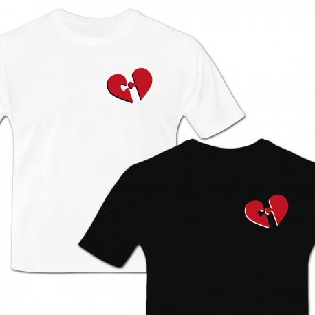 Tshirt coeur en morceaux