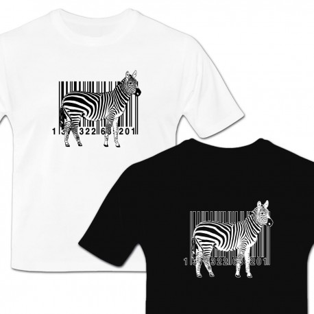 Tshirt zebre code barre