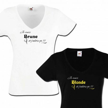 Tshirt Je suis Blonde