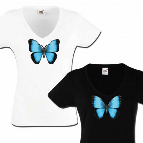 Tshirt papillon Morpho en relief