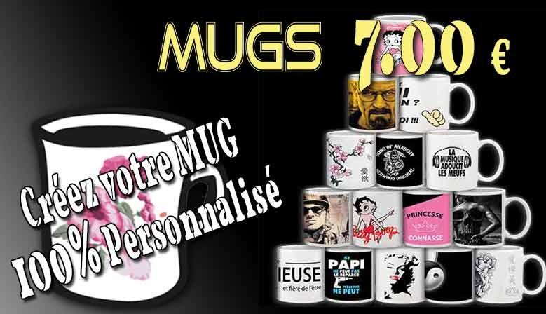 Choix de mugs et personnalisation avec vos photos