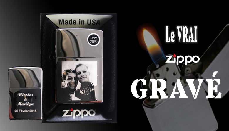 Gravure sur briquet garanti à vie Zippo